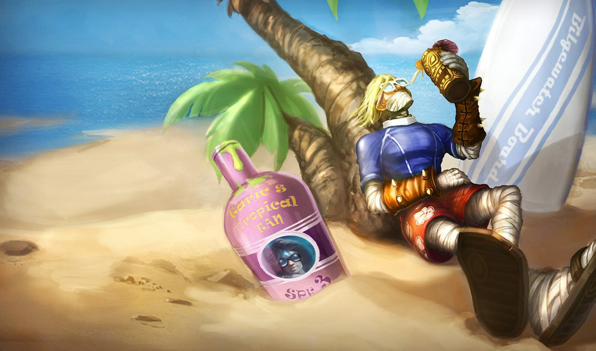Surfer Singed